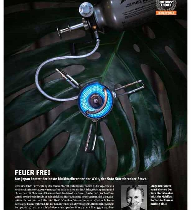 SOTO's StormBreaker Multi-fuel Stove receives outdoor Editors' Choice 2019